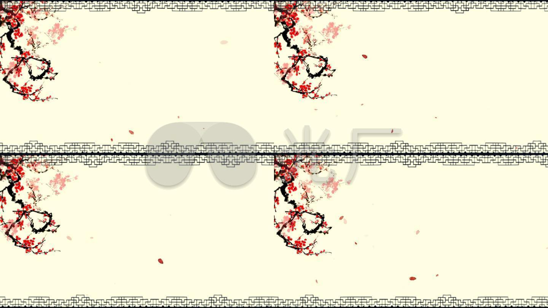 无缝循环梅花飘边框-带透明通道_1920x1080_高清视频
