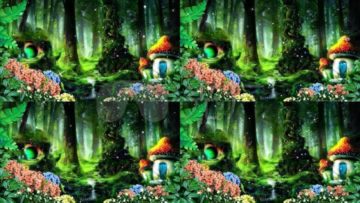 唯美 夢幻森林場景 背景視頻 神秘森林 綠野仙蹤