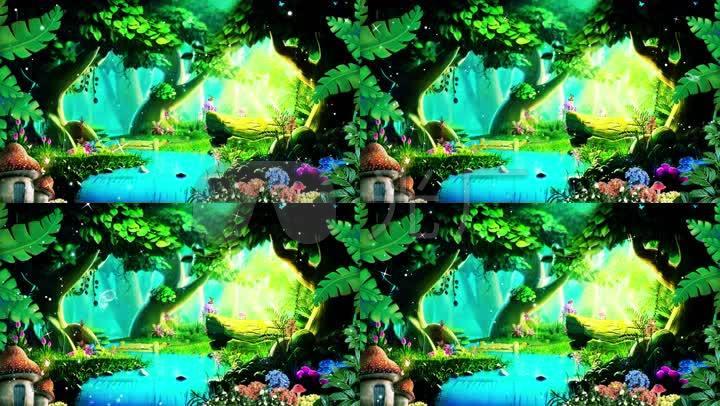 森林秘境led视频梦幻森林背景绿野仙踪图片