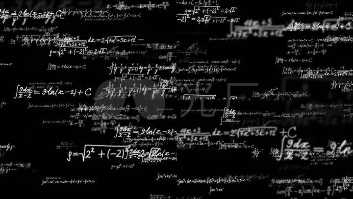 科学公式方程式数学公式_1920x1080_高清视频素材下载图片