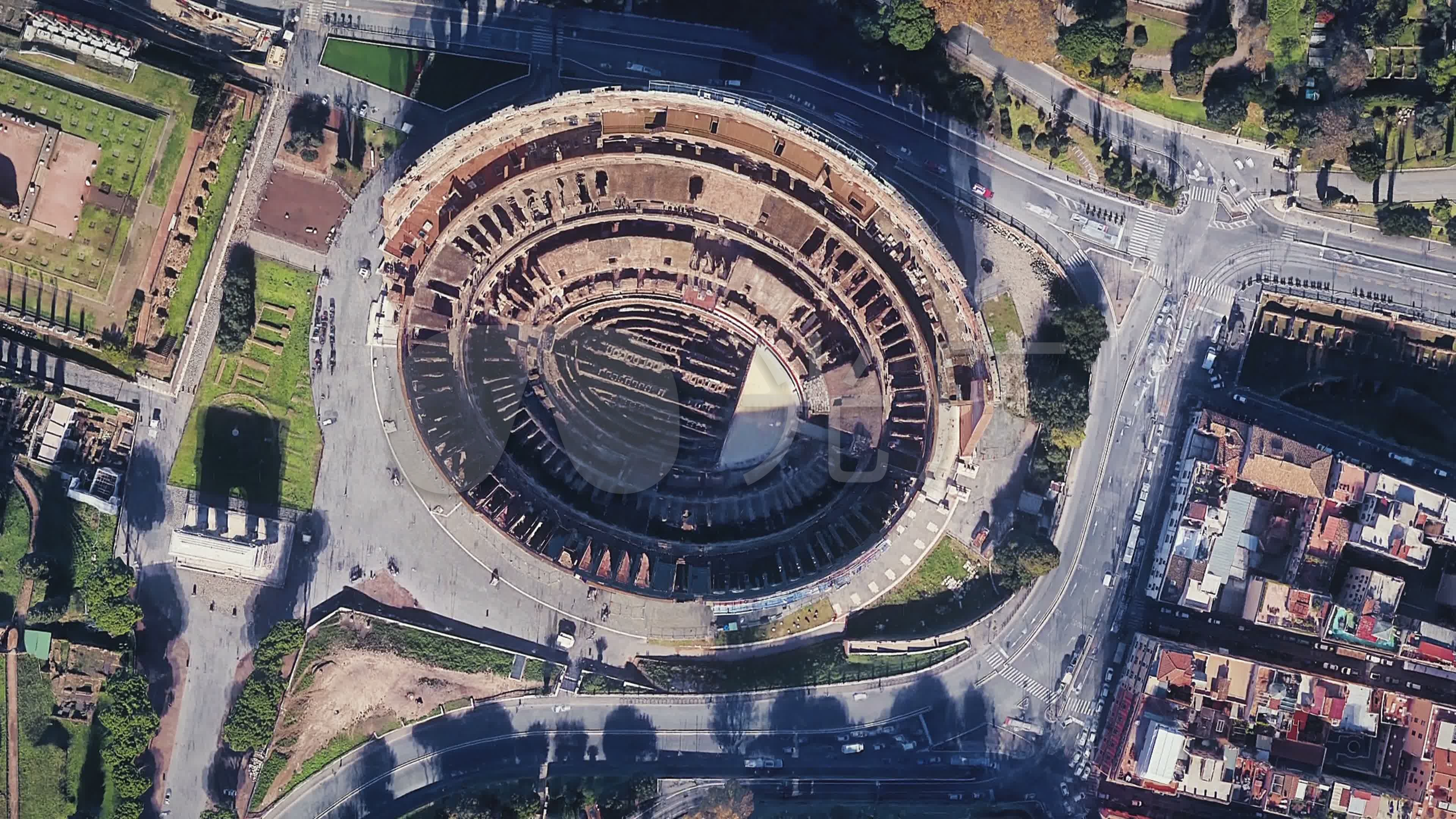 古羅馬城市俯視視圖圖片