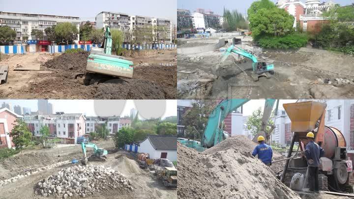 清理河道工程施工工地_1920X1080_高清视频训狗视频技巧图片