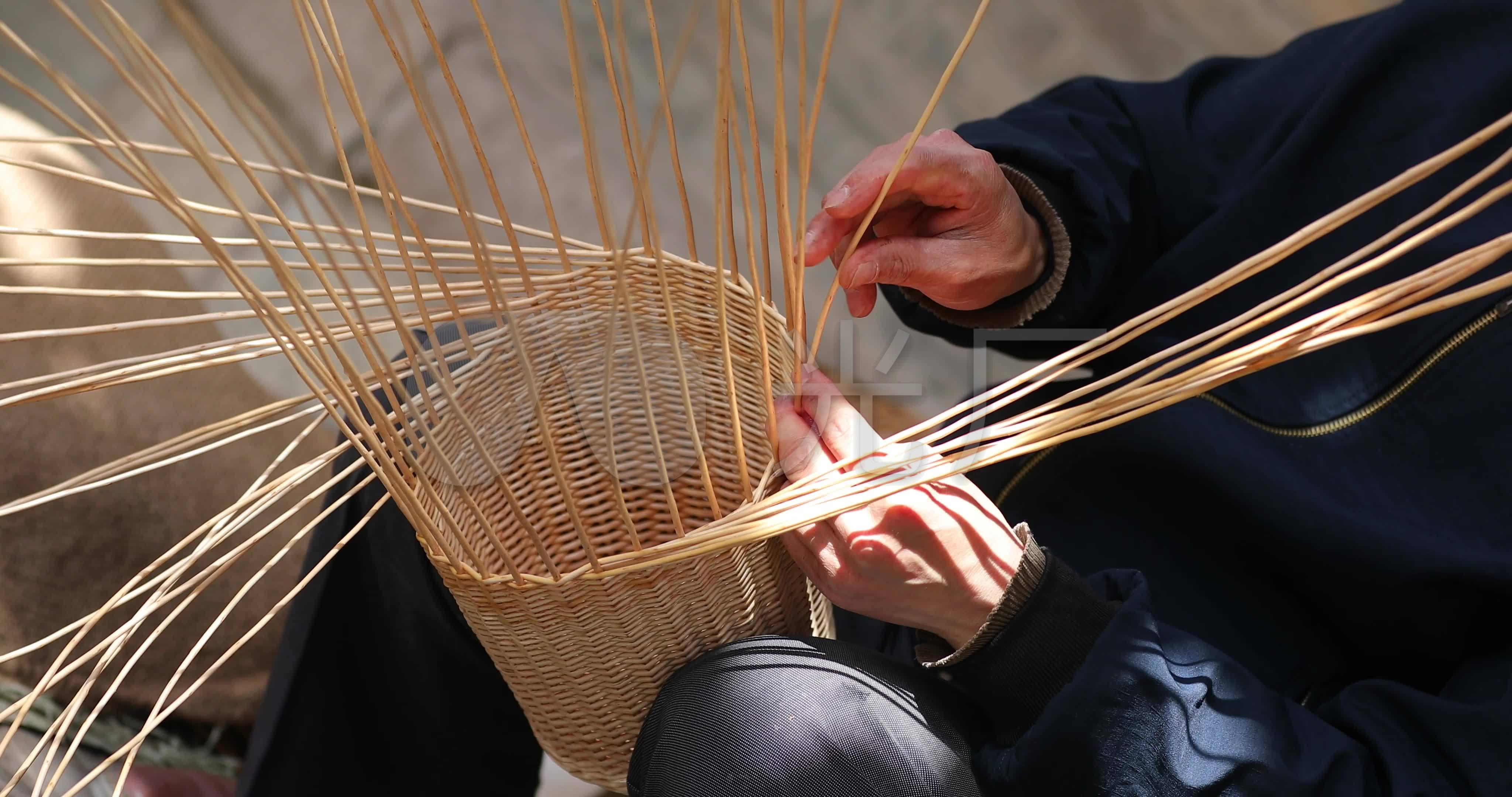 编竹篮的步骤图视频