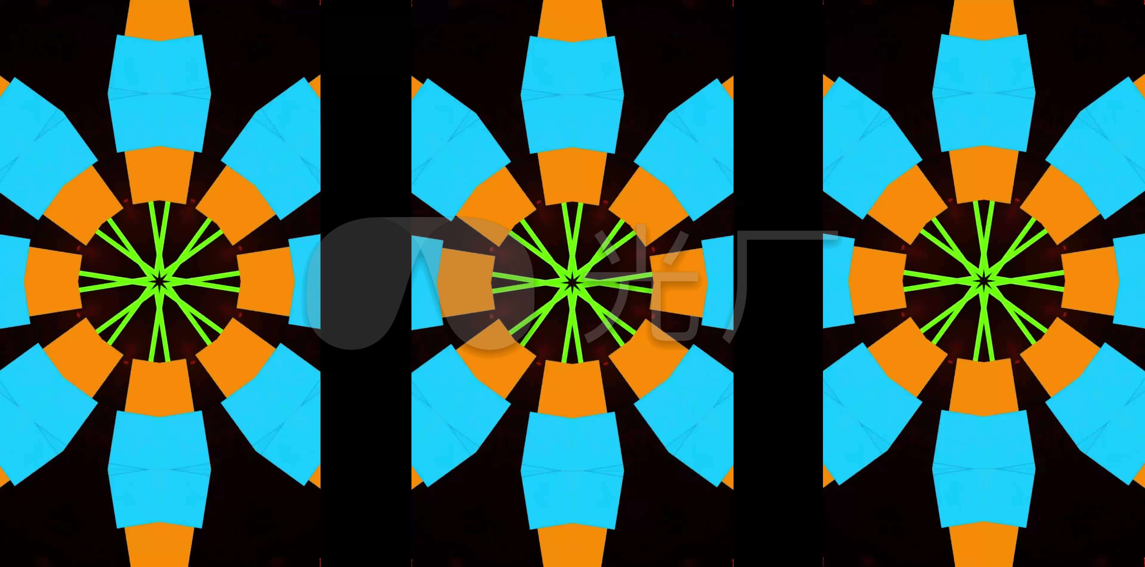 4k街舞现代舞爵士舞涂鸦色彩彩色几何背景