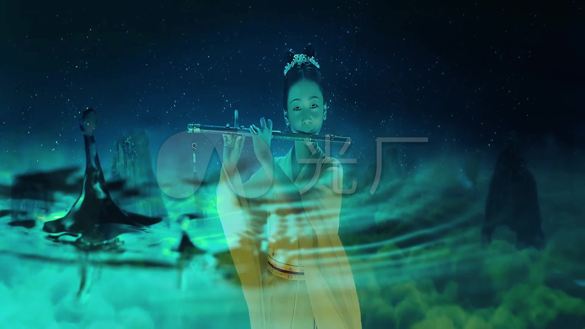 高清吹视频_1920X1080_视频金星素材下载(编意境笛子章图片