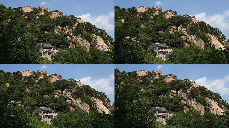 辽宁省鞍山市千山风景名胜区的天上天景点和无量观道观.