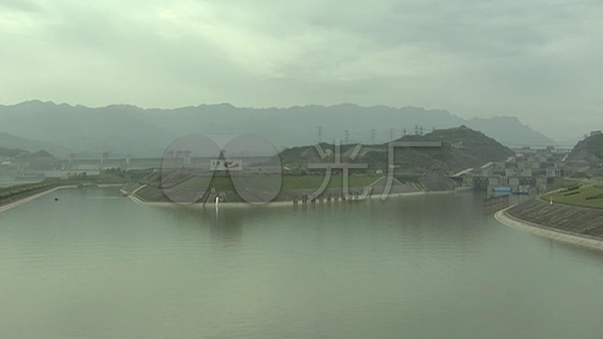90年代的三峡大坝发电站_素材视频包编号(下载白雪石视频图片