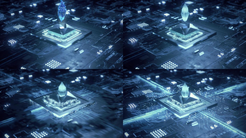 科技芯片动画手机产品芯片