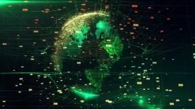 酷炫科技粒子地球视频素材视频素材