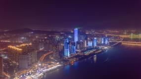 长沙夜景延时视频素材