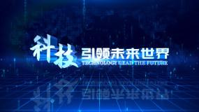 科技线条空间E3D立体文字标题片头AE模板