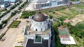 玉环法院建筑航拍延时视频素材