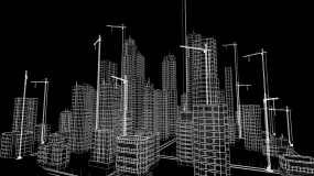三维建筑图视频素材