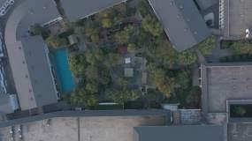 航拍石家庄国御温泉滹沱河外景摄影视频视频素材包