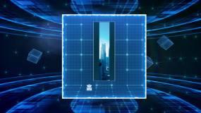 3d蓝色科技旋转图片展示ae模板AE模板