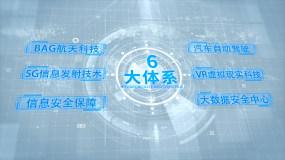 简洁科技组织结构分类AE模版AE模板
