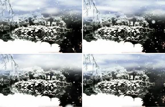 江南雪景写意
