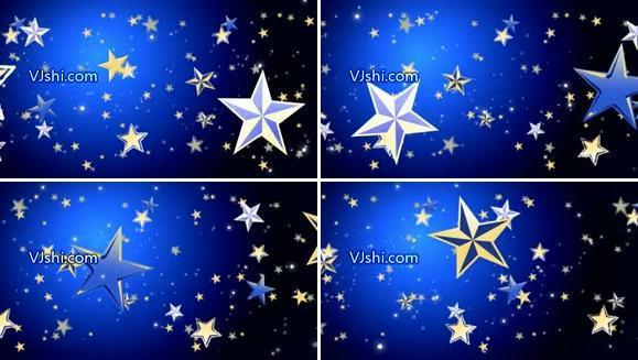 蓝色星辰素材 五角星