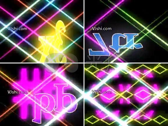 频闪 闪烁 光线花 字母