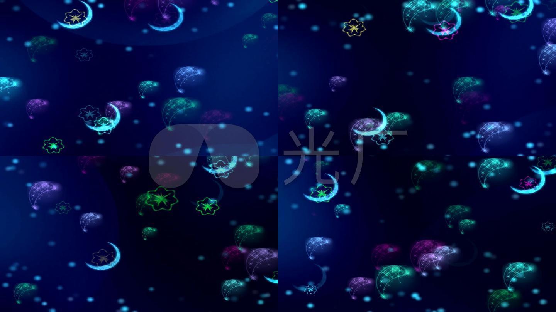 月亮 星光 粒子720