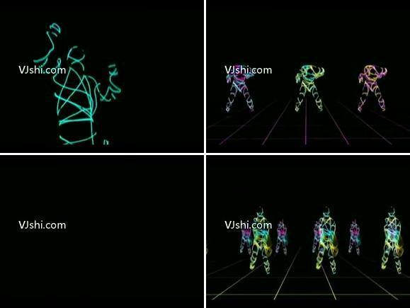 线条(人物舞蹈)(非常不错)