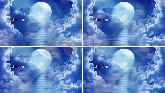 高清月亮 云
