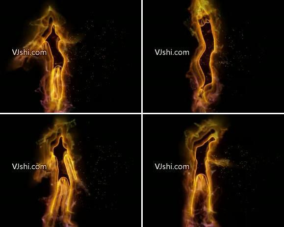 粒子跳舞的火女
