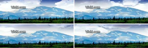 白云 草地 美丽风景背景