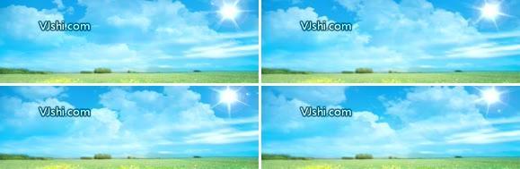 白云 蓝天 草原