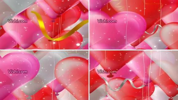 【高清版】桃心彩球 气球