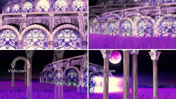 晚会LED背景-唯美 建筑 紫色系