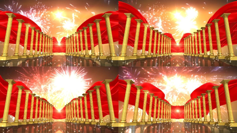 丝绸 旗帜 红 旗帜 国庆节