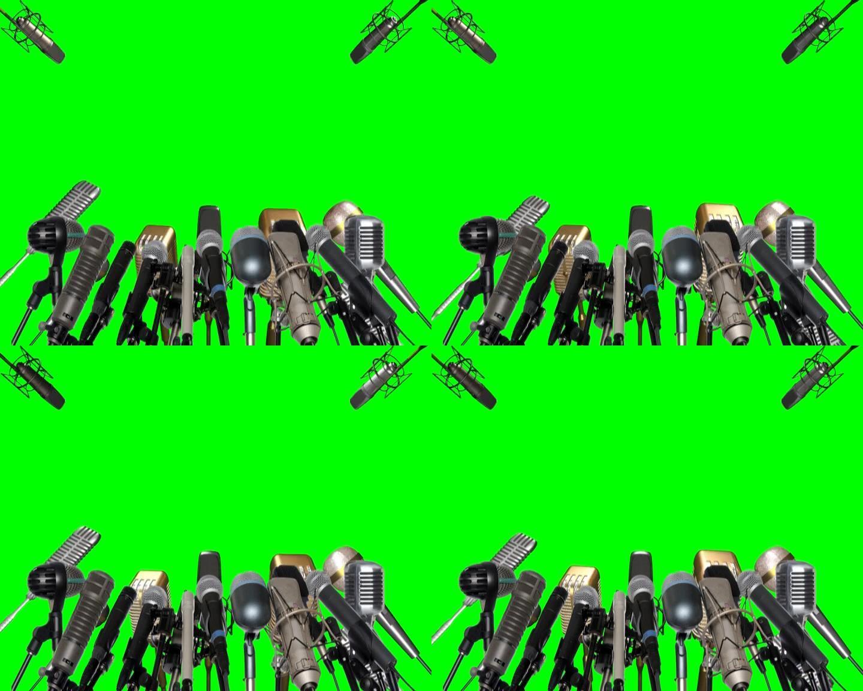 话筒(绿屏扣像素材)