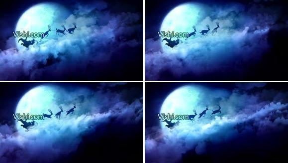 圣诞 老人 鹿