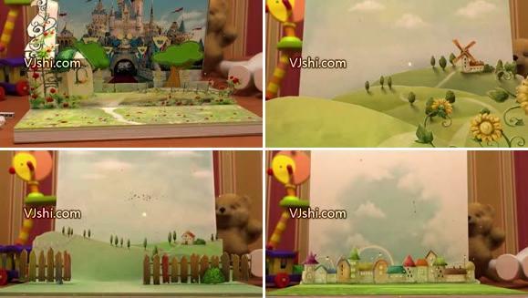3D 儿童卡通书本