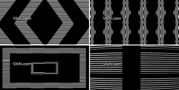 白色线条节奏迷幻