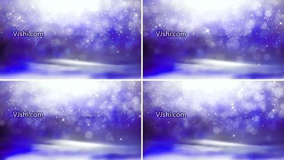 炫丽粒子坠落篮紫