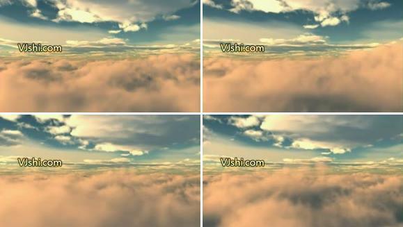 循环高空的云