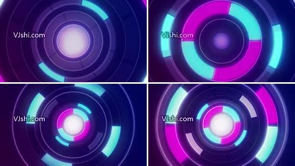 无缝循环发光环