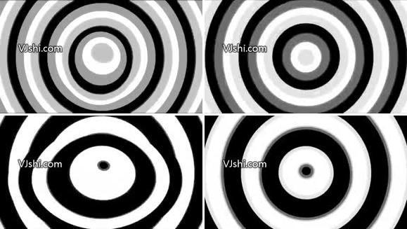 扩散的圆动态视频