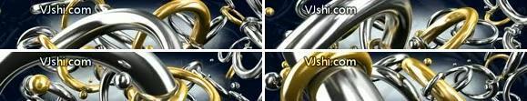 超宽屏 金属圆环 绚丽多彩 金属质感