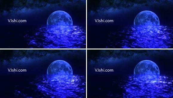 夜晚的月亮
