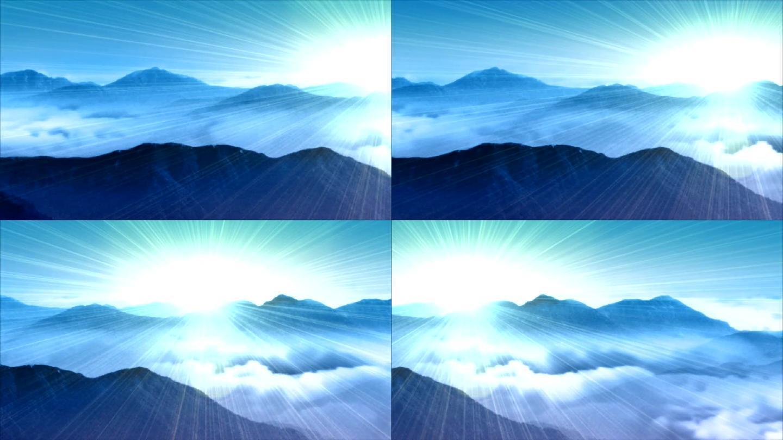 大气磅礴的山脉