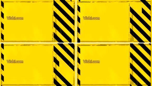黄色背景上的黑色块