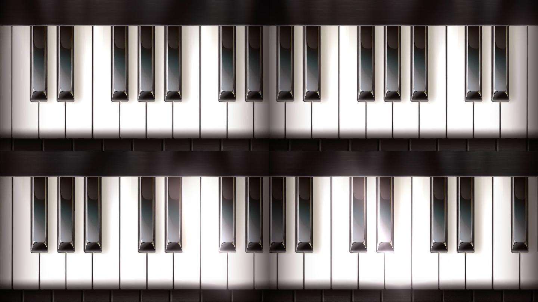 钢琴键盘演奏