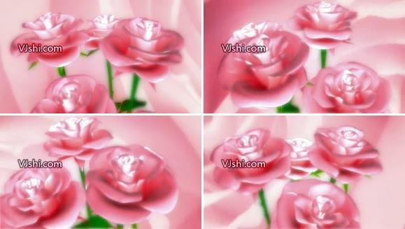 玫瑰花旋转