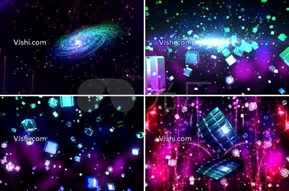 开场舞唯美水晶宇宙粒子