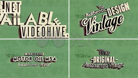 复古风格文字排版动画AE模板