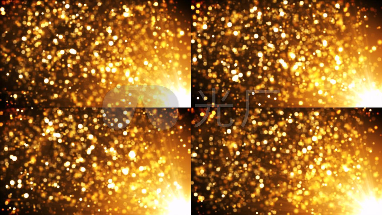 发光的金色粒子视频