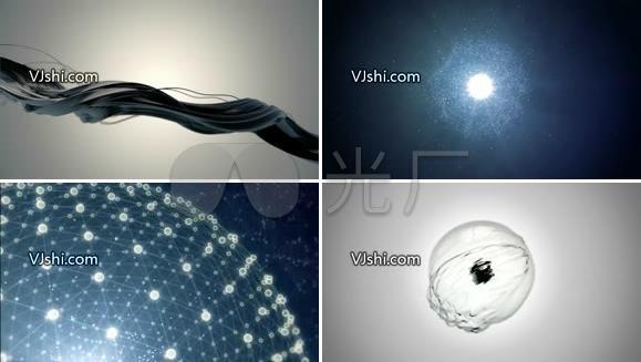 水面 光线粒子球体动画